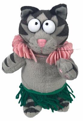 "B Kliban Cats Cat Beanie Plush Doll Lei & Hula Skirt Hawaii Dancing FIESTA 7"""