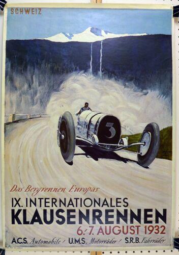 1932 Klaussenrennen race event poster ~ reprint
