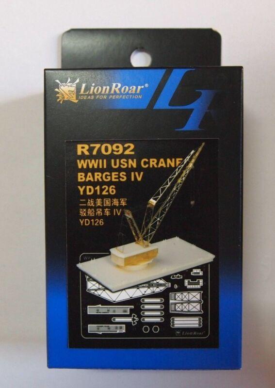 Lionroar Photo-Etched 1/700 WWII USN CRANE BARGES IV YD126 R7092