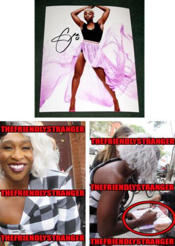 CYNTHIA ERIVO signed Autographed 8X10 PHOTO B - EXACT PROOF - SEXY Harriet COA