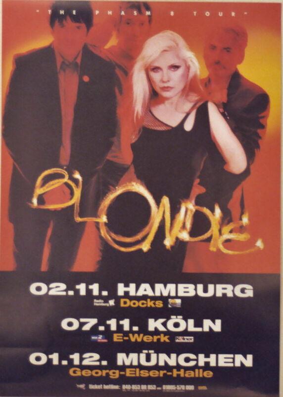 BLONDIE CONCERT TOUR POSTER 2003