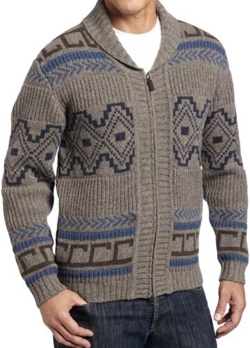Pendleton Woolen Mills - Dude Zip Salish Sweater - Schafwolle Cardigan - L