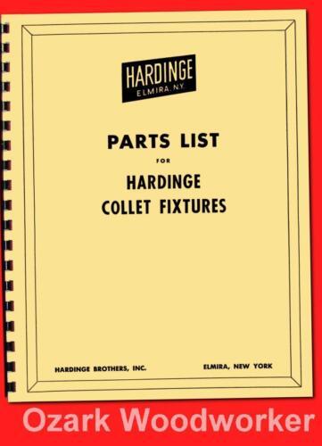 Hardinge Collet Index Fixtures Parts Manual & Bulletin Covers H-4, HV-4 5C 1130