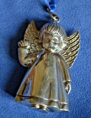 "Vintage Sterling Silver Angel Ornament Portugal Cherub 2.5"" Holloe"