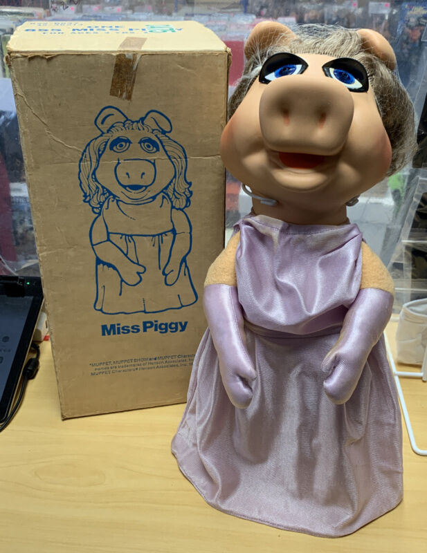 Vintage Miss Piggy Puppet Fisher-Price 1979 Henson Muppet Show w/ Original Box