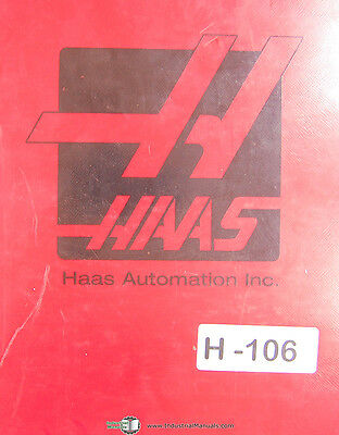 Haas Vf Series Vertical Milling Center Operations And Programming Manual 1998