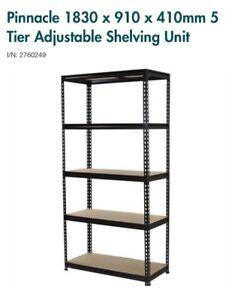 Pinnacle 1830 x 910 x 410mm 5 Tier Adjustable Shelves shelf
