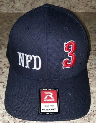 Firefighter Ball Cap with custom 3D Puff Numbers embroidery  - Firefighter Hat