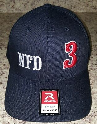 Firefighter Ball Cap with custom 3D Puff Numbers embroidery  - Custom Firefighter Hats