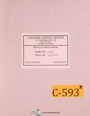 Clausing Metal Muncher Ps-4800 Shear Operations Maintenance Manual