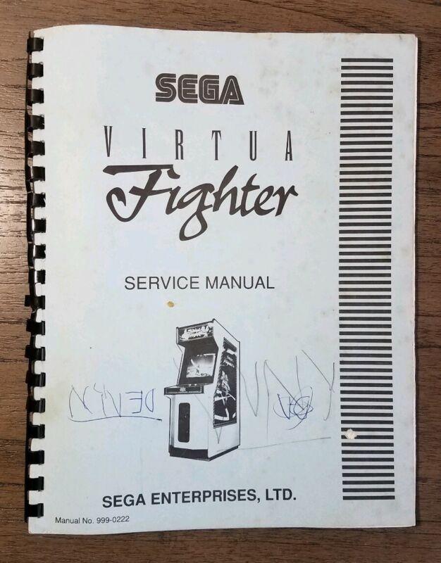 Sega Virtua Fighter Service Manual Authentic Retro Arcade - Sold As Is, See Pics