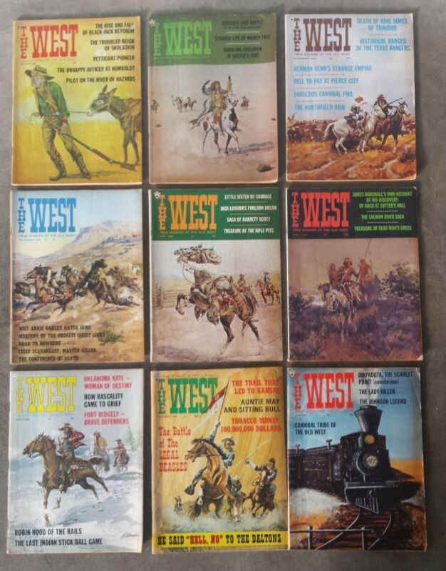 Lot of 9 Vintage The West Magazines Western 1966/1967/1968