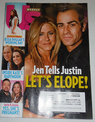 Us Weekly Magazine Jennifer Aniston   Jessa Duggar November 2014 120514R