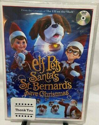 Elf Pets Santa's St Bernards Save Christmas DVD The Elf on the Shelf