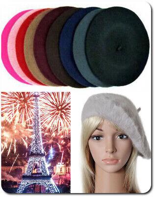 eret  Französische Mütze  Wollmütze  Kaninchenwolle  (Baskenmütze Französische Mütze)