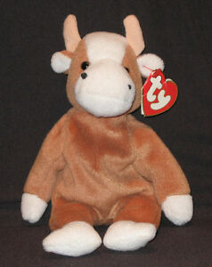 3RD GEN TY BESSIE the COW BEANIE BABY 3RD GEN HANG TAG CT WT
