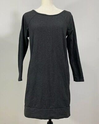 Pure J. JILL Petite Medium Gray Long Sleeve Sweatshirt Dress Kangaroo Pocket