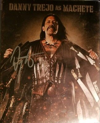 DANNY TREJO Hand Signed 8x10 Photo W/ Holo COA Machete