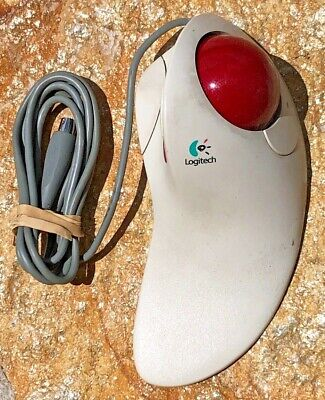 Logitech TrackMan Marble FX PS/2 Trackball Mouse M/N: T-CJ12 P/N: 804251-0000