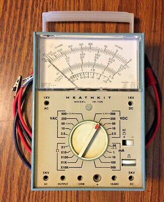 Vintage Heathkit Model Im-105 Vtvm Vacuum Tube Volt Meter Weston U.s.a. Made