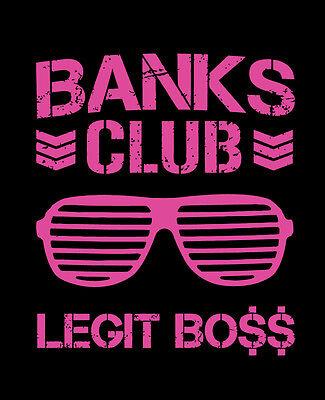 BANKS CLUB shirt Sasha Banks WWE Legit Boss Women's Champion NXT 4 - Womens Wwe Champion