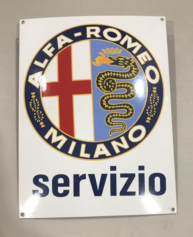 Alfa Romeo Metal Porcelain Dealer Service Sign