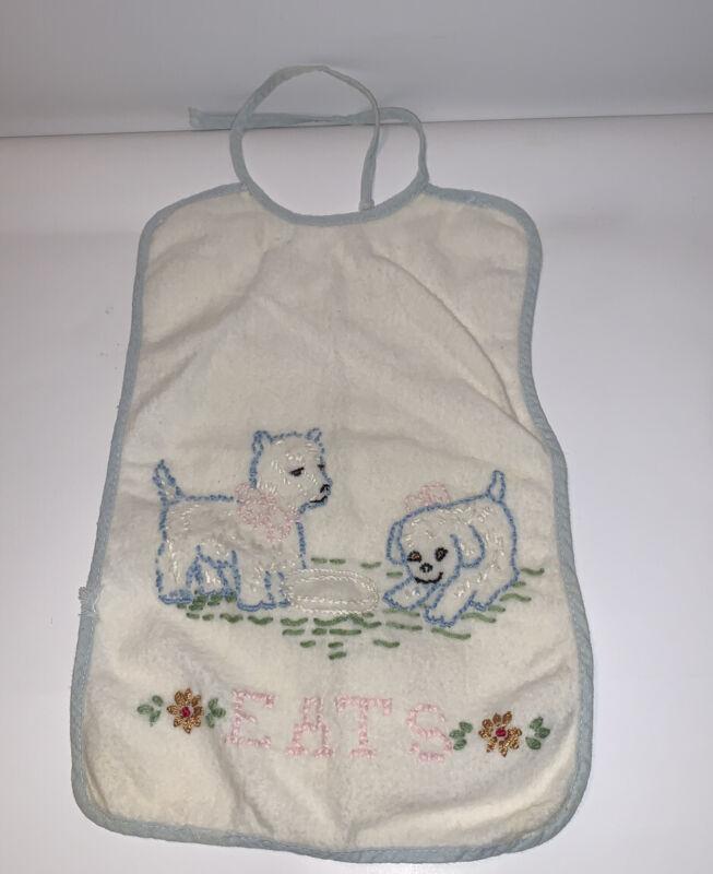 Vintage Embroidered Baby / Doll Bib