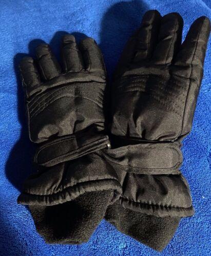 Boys Black Winter Gloves