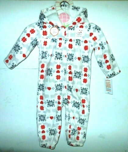 Just one You NWT 9m Holiday fleece lined Hoodie snow bunny suit