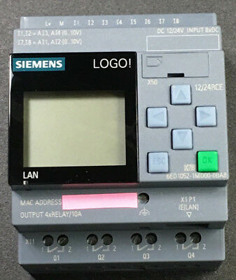 Siemens LOGO Modul 6ED1 052-1MD08-0BA0 12/24V DC integriertes Display FS01 01/18