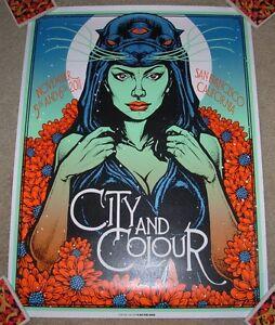 CITY AND COLOUR & concert gig tour poster SAN FRANCISCO 2011 Nov 4&5 Bl Munk One