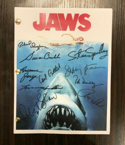 Jaws Movie Script Signed Autographed Reprint Full Screenplay Full Script
