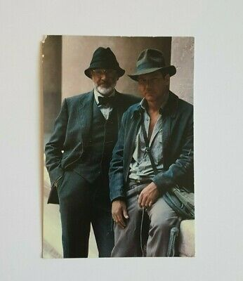 Vintage Indiana Jones Last Crusade Post Card Sean Connery Harrison Ford Flaw