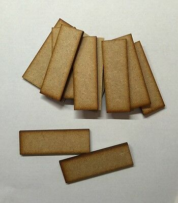 20 x rectangle Bases 3 Mm Laser Cut Mdf 100x 25 Mm  wood Wargame
