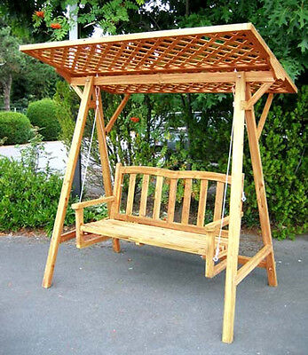 Hollywoodschaukel aus Holz, kiefer mit Rangkitter Dach