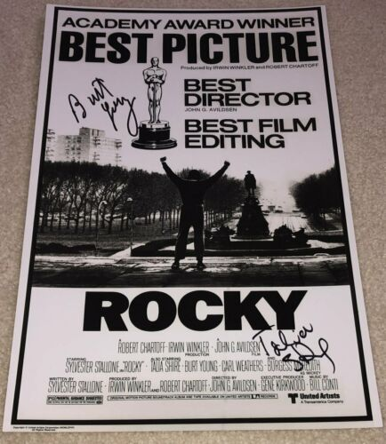 TALIA SHIRE & BURT YOUNG SIGNED AUTOGRAPH ROCKY 12x18 POSTER PHOTO w/EXACT PROOF