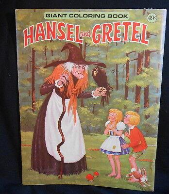 Giant Hansel & Gretal Coloring Book - 1950's - Near Mint