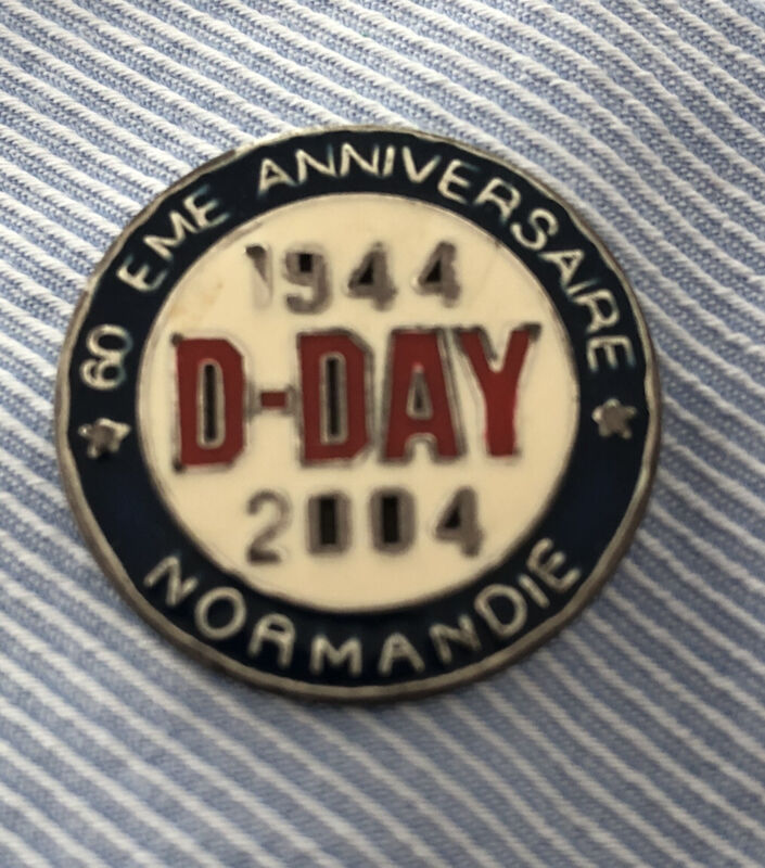 D DAY 60th EME ANNIVERSARY NORMANDIE 1944 - 2004 Limited Edition VTG Lapel Pin