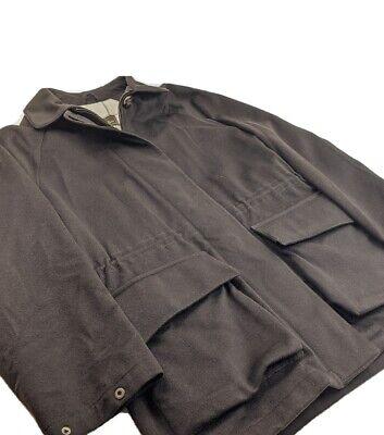 Loro Piana Storm System CASHMERE Overcoat Jacket Brown Sz S