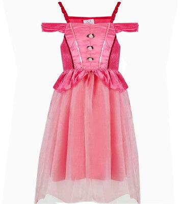 Kostüm Prinzessin Dornröschen Cinderella Märchen Kleid rosa pink (Rosa Dornröschen Kostüm)