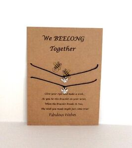 Wish String Friendship 'We BEELONG Together' Matching BEE Charm Wish Bracelets!