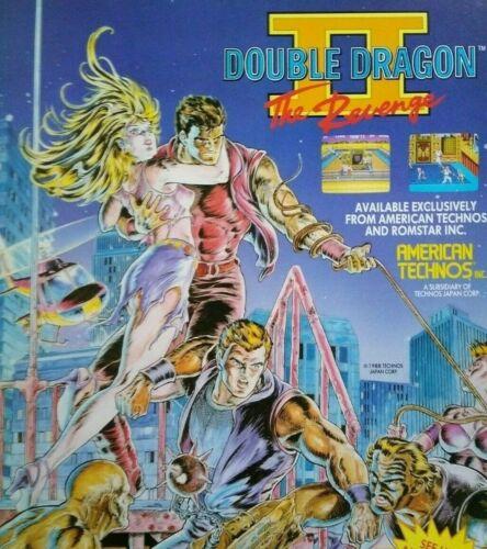 Technos Double Dragon 2 Arcade FLYER The Revenge Original Video Game Artwork
