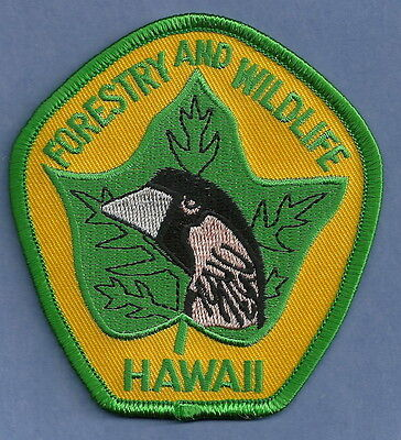 HAWAII DEPARTMENT OF FORESTRY & WILDLIFE POLICE PATCH