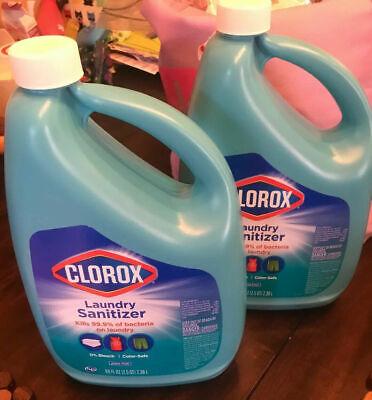(2) CLOROX Laundry Sanitizer 80 Oz. Ea Kills 99.9% Disinfect 160oz Lot New lysol