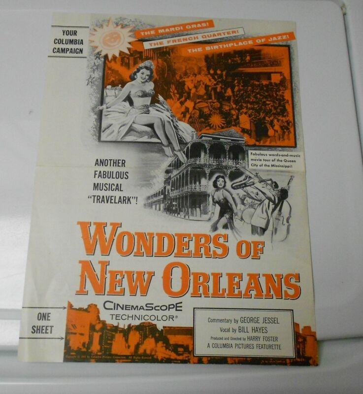 1957 WONDERS OF NEW ORLEANS Press Book Kit Columbia Travelark FN+