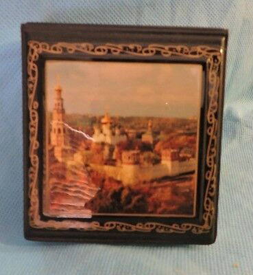 Russian Made Desktop Memo Pad With Ancient City Pictured On Top