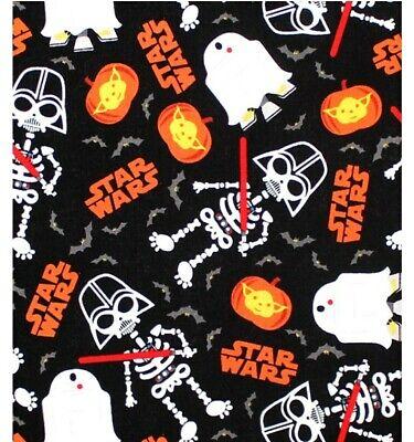 "Star Wars ""Glow In The Dark"" Halloween Cotton Fabric 1/2 Yard X 44"""