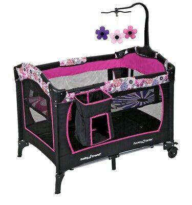 Pink Baby Nursery Bassinet Infant Crib Sleeper Furniture Bed Newborn Diapers