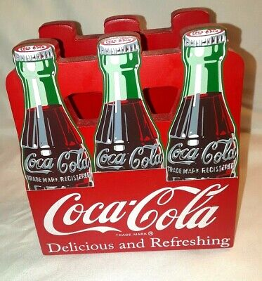 Coca Cola Six Pack Wooden Napkin Holder
