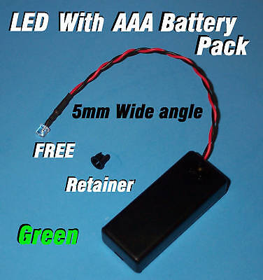 5mm Led Aaa Battery Pack Switch Green Wide Anglehalloween Projects Diy